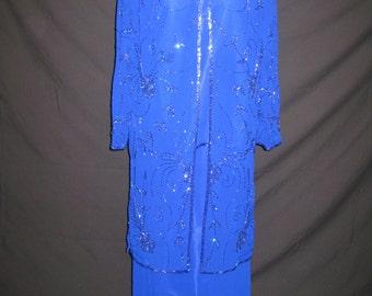 Blue 3pcs skirt set #1025