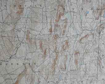 1893 Large Original Antique Map Beekman Pawling Unionvale Dover Clove Valley
