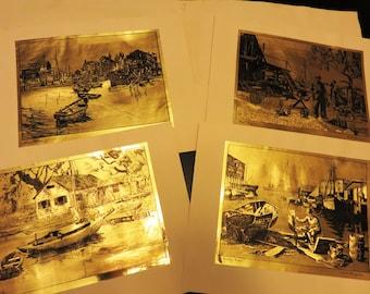 foil etch print etsy