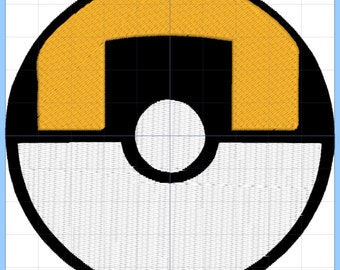 Ultraball Pokemon Embroidery Design