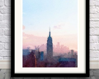 New York City Skyline, Art Print, big apple , New York , USA print, Manhattan,Pic no 11