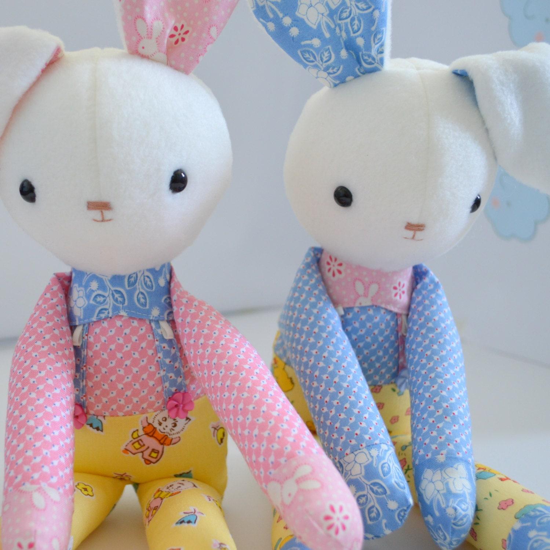 Soft Toy Patterns : Pdf sewing pattern soft toy stuffed doll plushie little