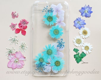 iPhone 6 Case Pressed Flower, Floral Cases iPhone 5s Case Real Flower iPhone Case Pressed Flower Cases Mint Galaxy S4 Case Cute iPhone Cases