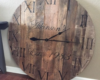 "36"" (3 foot) custom wall clock - Free Shipping"