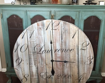 "36"" CLOCK Reclaimed Wood - FREE SHIPPING"