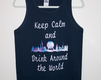 Epcot drinking around the world Tank Top or T-Shirt