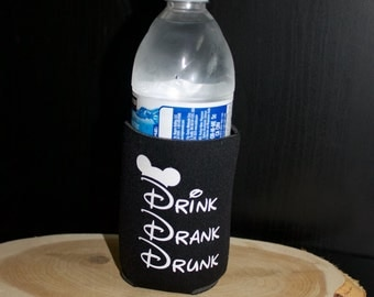 Disney inspired Can or Bottle insulator. Drink Drank Drunk! Keep you favorite beverage cold.