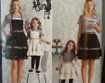 On Sale Designer Mother Daughter Apron Pattern Simplicity 2351 by Cynthia Rowley