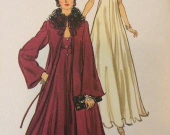 On Sale****Vogue 1315 Elegant Slip Dress and Sheer Overcoat Pattern by Bill Blass***Size 12 Bust 34  UNCUT