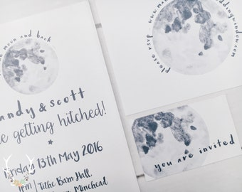 To the Moon and back ~ Wedding invites