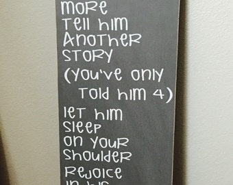 Hold Him A Little Longer - Nursery Decor- Boys Room- Subway Art - Baby Shower Gift