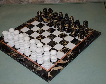 Marble Chess Board and Set   Luxury edition