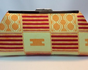 African Print Framed Clutch