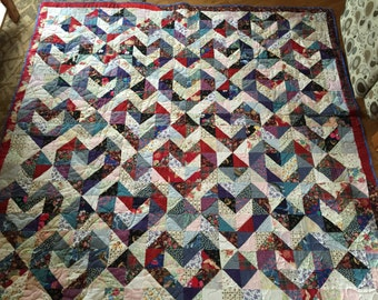 Patched Hearts Quilt