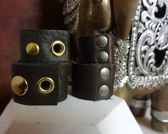 Set of 2 Handmade leather bands,  Leather rings, leather bands, unisex  bands, men's leather, women's jewelry, men's rings, leather jewelry