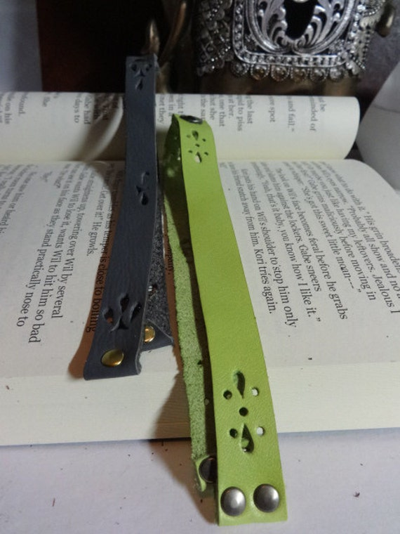 Leather cutout bookmark, suede bookmark, western bookmark, leather book accessories, braided bookmark, book ribbon,