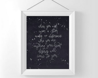 5x7 When you wish upon a star printable