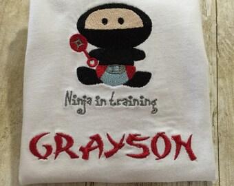 Ninja In Training Baby Shirt