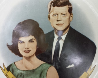 John F And Jackie Kennedy Plate.Presidential Memorabilia,JFK,John F Kennedy, US President,Souvenir Plate,Jackie O,Commemorative Plate,Decor