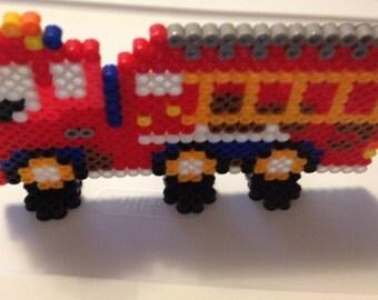 Perler Bead 3D Red Firetruck