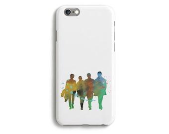 Case Beatles Phone iPhone 6 Tough 6s Plus 5 5s 5c SE Samsung Galaxy S6 Watercolor Silhouette Lennon McCartney Starr Harrison Music Colorful