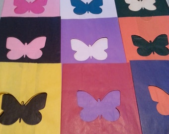 All Occasion Luminary Bags - BUTTERFLY (choose your color)  Pack of 10