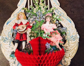 An Exquisite Rare Victorian Valentines Card