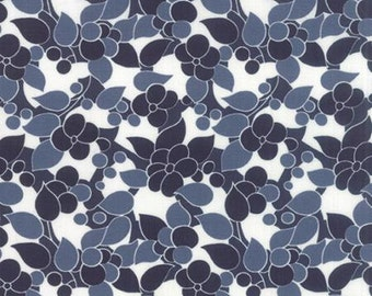 Simply Colorful II - Floral in Navy by V & Co.  for Moda - 1 yard cut  10851 20