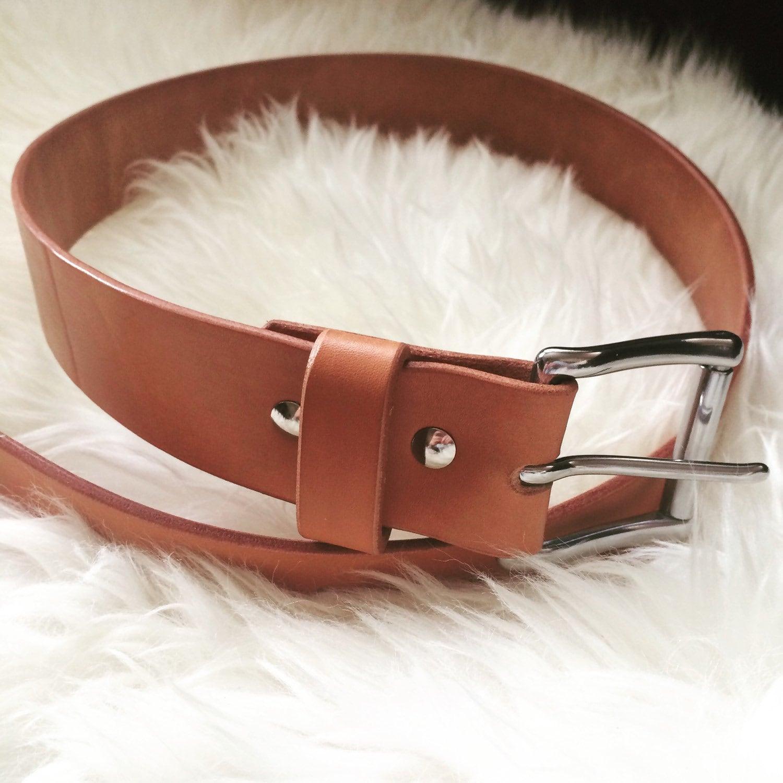 handcrafted top grain leather belt
