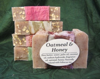 Oatmeal and Honey Handmade Soap- Handmade Soap- Homemade Soap