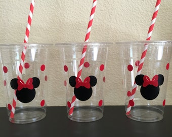 Minnie Mouse Party Cups (red and pink)