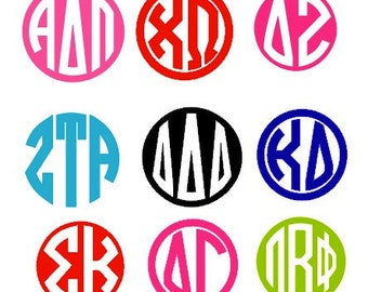 Sorority Monogram Stickers