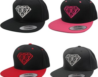 Flexfit Original Classic Snapback Cap with Diamond Embroidery