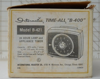 The Original Intermatic Time-All lamp and appliance control with instruction sheet