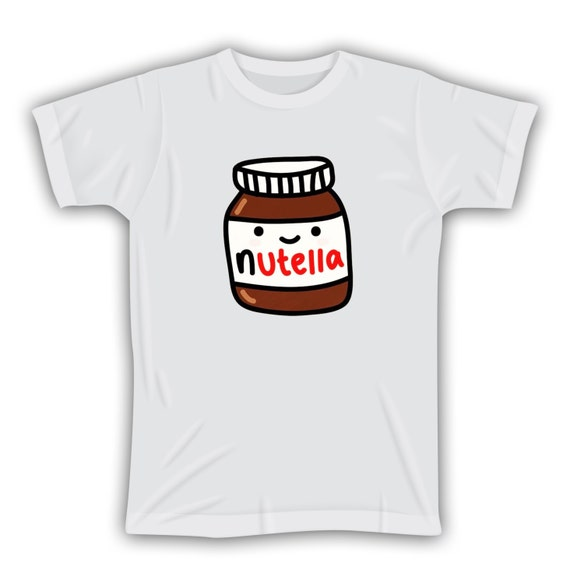 Nutella Graphic White T shirt Nutella Tshirt by JujuApparel