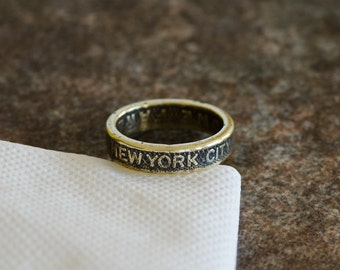 New York City Subway Token Ring - Sizes 5 to 10 - Minimal Shipping
