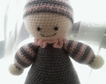 cuddly baby crochet soft toy, crochet amigurumi doll