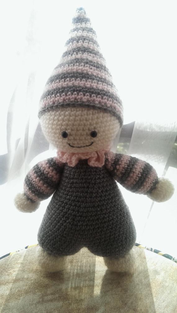 cuddly baby crochet soft toy, crochet amigurumi doll