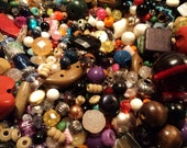 Mixed Loose Beads, Bead Soup, One Pound Grab Bag, Jewelry Parts, Destash Jewelry and Craft Supply
