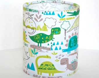 Lantern Night Light in Dinosaur Fabric - Safe Battery Operated Tea Light