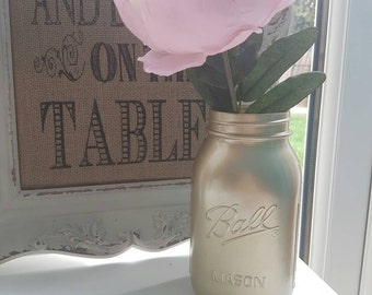 Hand painted Ball Mason Jar 945ml - Perfect for Weddings/ Home Decor/Outdoor/Centrepieces/Parties/Flowers