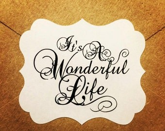 Envelope Seals / Stickers - It's A Wonderful Life Qty: 30 Stickers