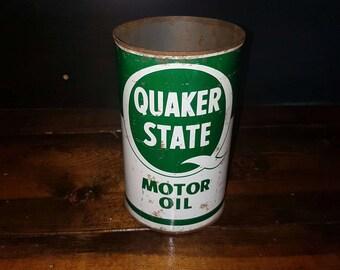 Quaker State quart oil can