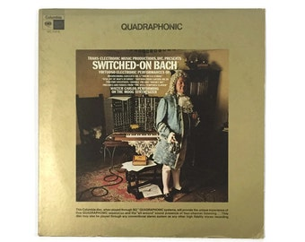 """Walter Carlos, """"Switched-On Bach"""", vinyl record album, electronic LP, quadraphonic, analog, synthesizer, weird, campy, moog, classical"""