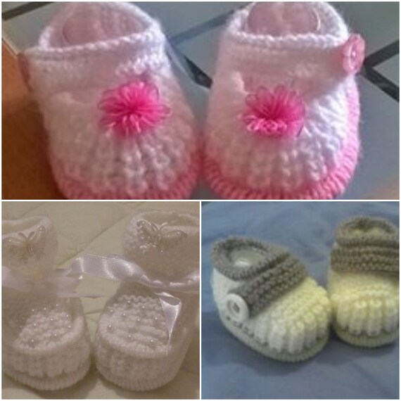 Baby Knitting tuck edge and shoes double edge tuck booties