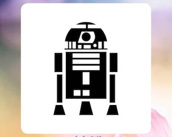 "R2D2 ""Star Wars"" Reusable Craft Stencil"