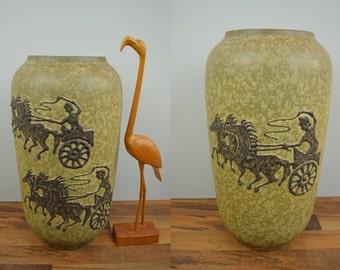 Rare vintage XL floor vase / Scheurich / 546 50 / handmade design | 70s | West German Pottery