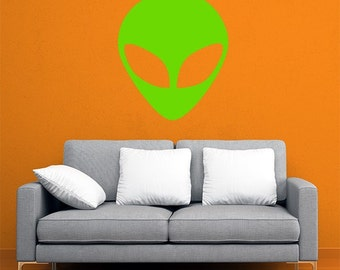 Alien Head Wall Decal / Car Sticker