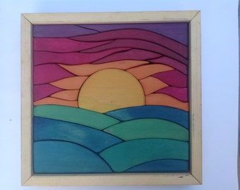 Sunset Puzzle Blocks