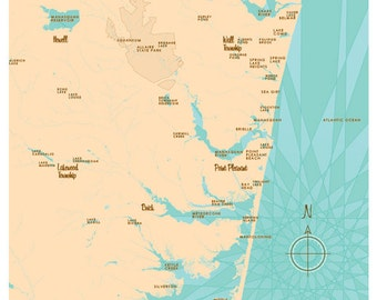 The Jersey Shore Map Print